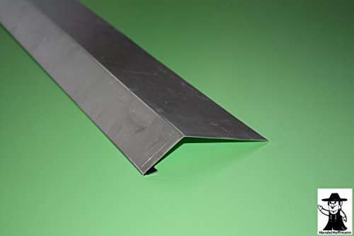 Traufblech 1 m lang Aluminium 0,8 mm (klein)