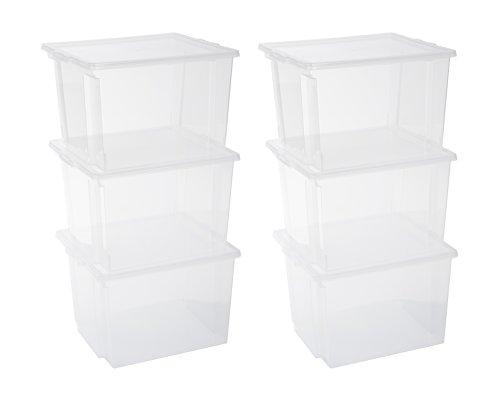 IRIS 130625, 6er-Set Aufbewahrungsboxen / Kisten mit Deckel...
