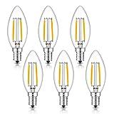 WUHOSTAM 2W Dimmbar Glühfaden LED Kerze Lampe, 2700K...