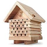wildtier herz | Bienenhotel, schwere Ausführung aus...