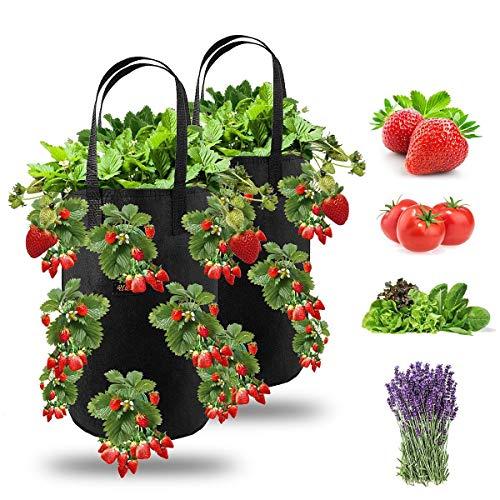 Ulikey Erdbeere Pflanzsack, Pflanzen Tasche Grow Tasche...
