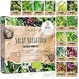 BIO Salat Samen Set - 14 Sorten Salatsamen aus biologischem...