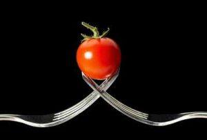 Gemüsesorten die Schnecken nicht fessen mögen Tomate Gabel Nacktschnecken lieben nicht meiden lassen in Frieden