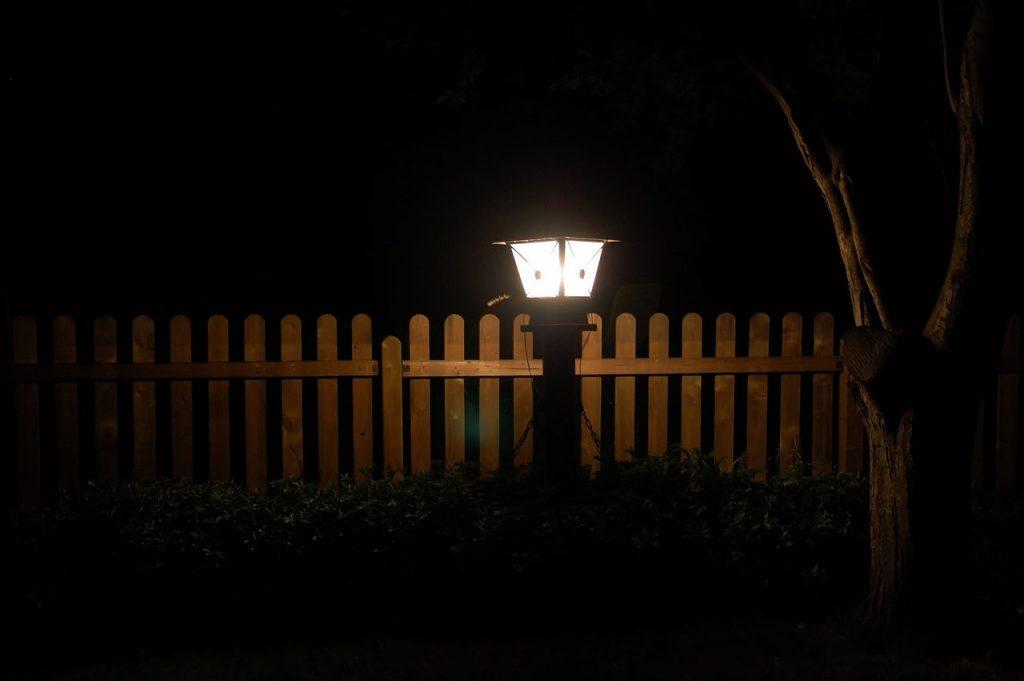 Licht Garten Lampe Zaun