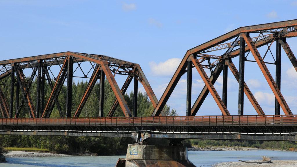 Corten Stahl Brücke