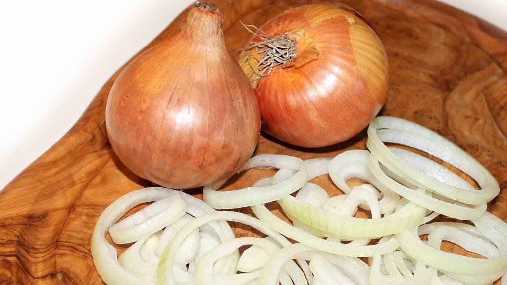 Zwiebeln in der Küche